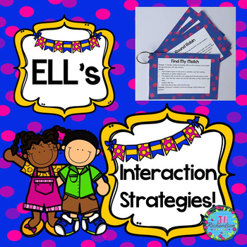 ESL Strategies to use with ELL Activities!