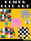 Elmer the Patchwork Elephant Clipart_COLOR