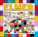 ELMER THE ELEPHANT STORY RESOURCES EYFS KS1 ENGLISH COLOURS