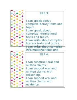 ELPA 21 I can Statements
