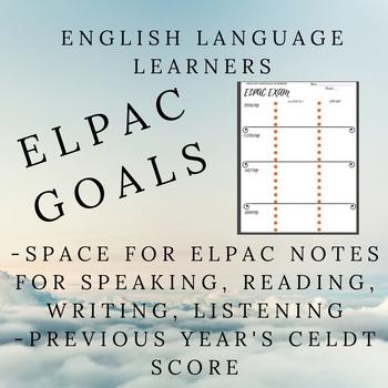ELPAC Goals Sheet