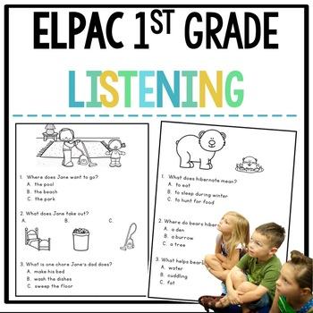 ELPAC Listening Practice for Kindergarteners and 1st graders