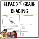ELPAC Reading Practice Questions for 2nd graders