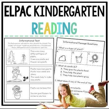 ELPAC Reading Practice Questions for Kindergarteners