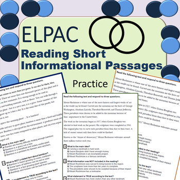 ELPAC Reading Practice Short Informational