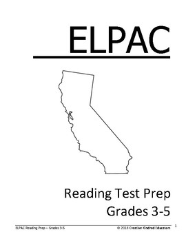 ELPAC Reading Test Prep for Grades 3-5