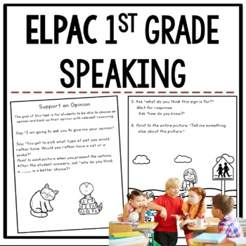 ELPAC Speaking Practice Questions for 1st graders