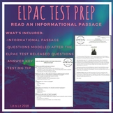 ELPAC Test Prep: Read an Informational Passage with Test Questions