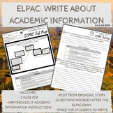 ELPAC Test Prep: Write About Academic Information (Practice #1)