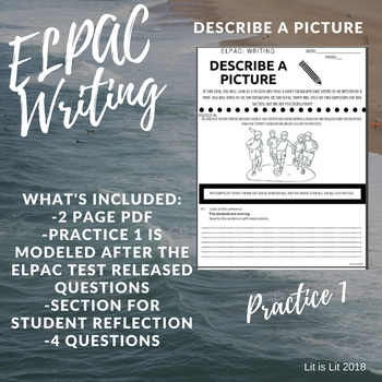 ELPAC Writing Domain: Describe A Picture (Practice #1)