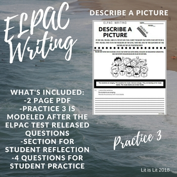 ELPAC Writing Domain: Describe A Picture (Practice #3)