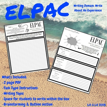 ELPAC Writing Domain: Write About An Experience (Practice #3)