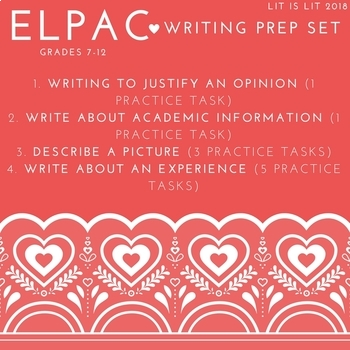 ELPAC Writing Prep Set