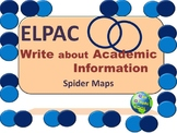 ELPAC Writing about Academic Information Spider Maps