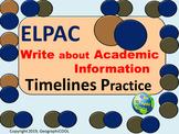 ELPAC Writing Practice Timelines