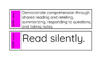 ELPS Abbreviated Reference Cards