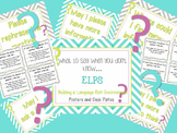 ELPS What to say when I don't know - Posters and desk plates