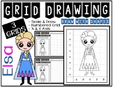 ELSA from FROZEN (Draw with Shapes) Grid Drawing - Early F