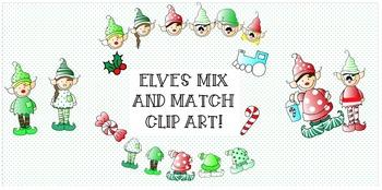 ELVES CLIP ART - MIX & MATCH