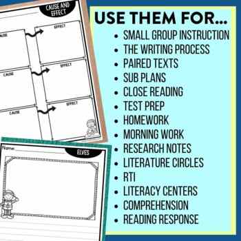 ELVES | Graphic Organizers for Reading | Reading Graphic Organizers