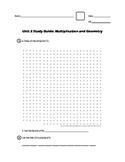 EM4/Everyday Math; Grade 4 - Unit 2 Study Guide: Multiplication and Geometry