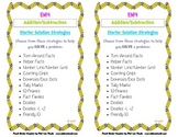 Everyday Math 4: Addition & Subtraction Starter Strategy Cards