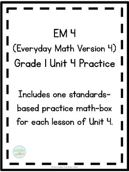 EM4 (Everyday Math 4) Grade 1 Unit 4 Extra Practice