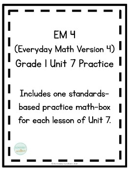 EM4 (Everyday Math 4) Grade 1 Unit 7 Extra Practice