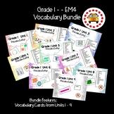 EM4-Everyday Math 4 - Grade 1 Vocabulary Bundle