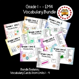 EM4-Everyday Math 4 - Grade 1 Vocabulary Bundle