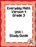 EM4-Everyday Math 4 - Grade 3 Unit 1 Study Guide