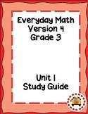 EM4-Everyday Math 4 - Grade 3 Unit 1 Assessment Study Guide