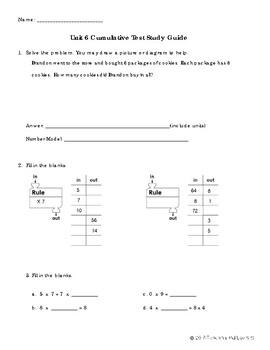 EM4-Everyday Math 4 - Grade 3 Unit 6 Cumulative Review