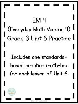 EM4 (Everyday Math 4) Grade 3 Unit 6 Extra Practice