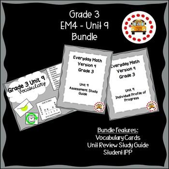 EM4-Everyday Math 4 - Grade 3 Unit 9 Bundle