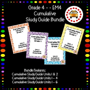 EM4-Everyday Math 4 - Grade 4 Cumulative Review Bundle