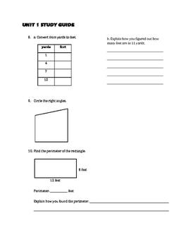 EM4/Everyday Math 4; Grade 4 Study Guides - Units 1 -8