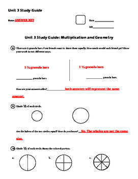 EM4/Everyday Math 4; Grade 4 Study Guides - Units 3-8