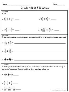 EM4 (Everyday Math 4) Grade 4 Unit 5 Extra Practice