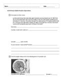 EM4/Everyday Math 4; Grade 4 - Unit 8 Study Guide: Fractio