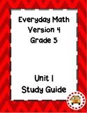 EM4-Everyday Math 4 - Grade 5 Unit 1 Assessment Study Guide