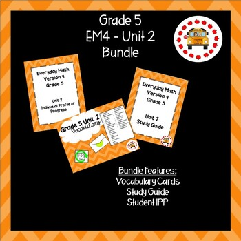 EM4 Everyday Math 4 Grade 5 Unit 2 Bundle