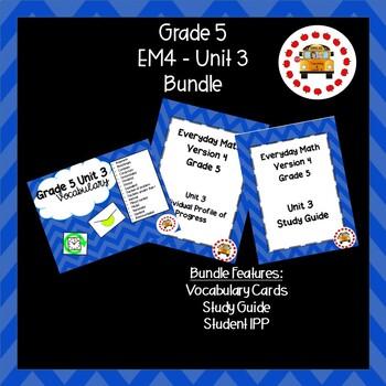 EM4-Everyday Math 4 - Grade 5 Unit 3 Bundle