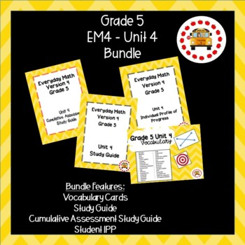 EM4-Everyday Math 4 - Grade 5 Unit 4 Bundle