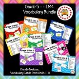 EM4-Everyday Math 4 - Grade 5 Vocabulary Bundle