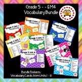 EM4-Everyday Math 4 - Grade 5 Vocabulary Bundle