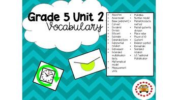 EM4-Everyday Math 4 - Grade 5 Vocabulary Bundle - Teal