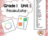 EM4-Everyday Math 4 - Grade 1 Unit 1 Vocabulary