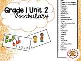 EM4-Everyday Math 4 - Grade 1 Unit 2 Vocabulary