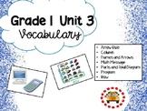 EM4-Everyday Math 4 - Grade 1 Unit 3 Vocabulary